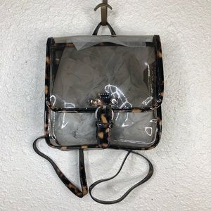 NWOT plastic tortoise clear backpack